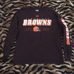 Cleveland Browns Long Sleeve Football Shirt Size M